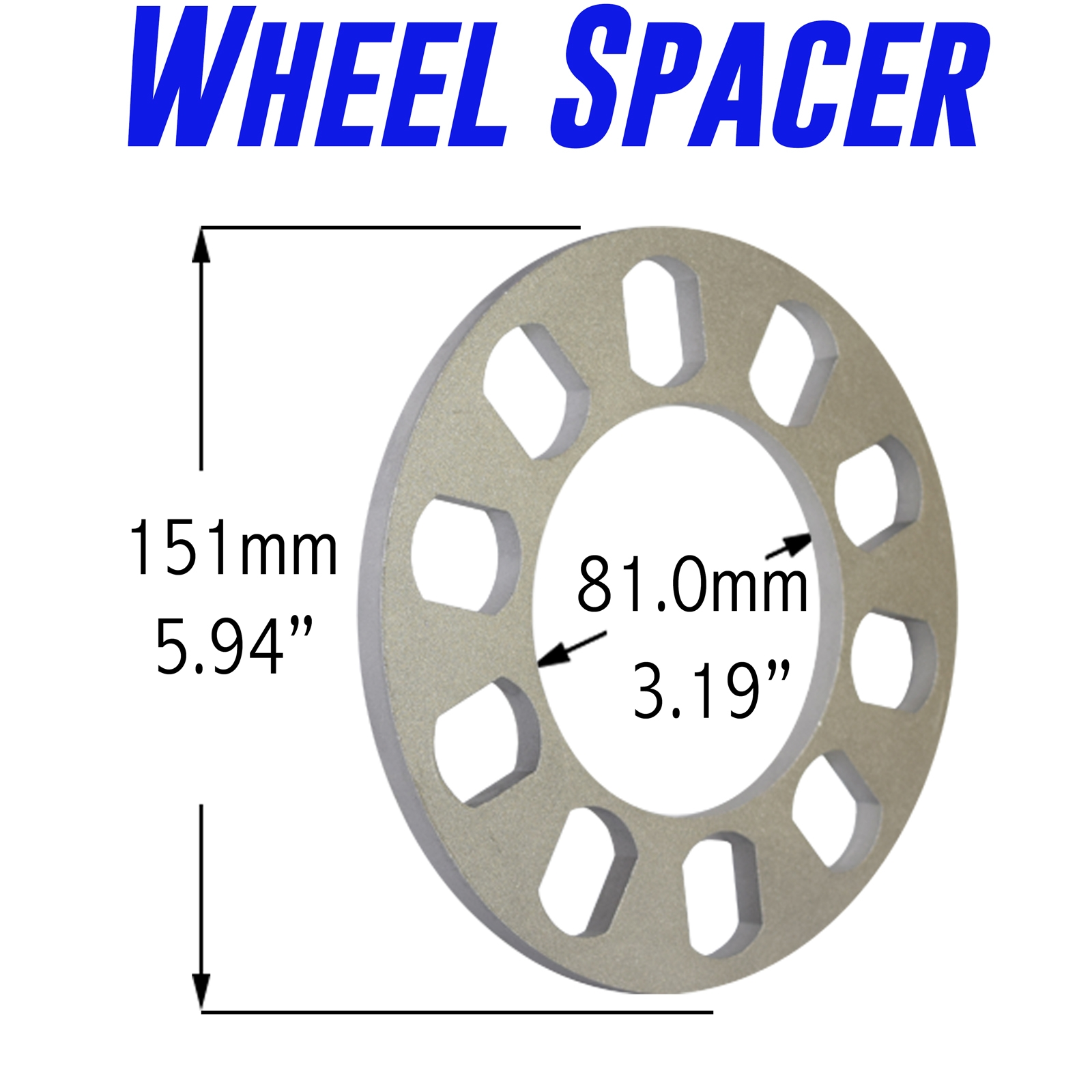 Details about 2 PC 8mm Wheel spacers | 5/16