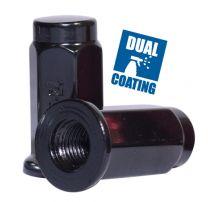Lug Nut - Flat Seat (14mm) - 3/8 (Blk)