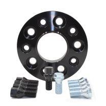 Wheel Spacer - Bolt-On Spacer Kit - 5x112 (25mm) 66.56m w/M12 1.5 Blk Bolt
