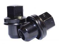 OE Style Lug Nut | Range Rover w/Washer [22mm Hex] | 14mm 1.50 [Black] (Lugs)