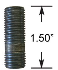 Wheel Stud - Thread In - 1/2  (1.5 Long)