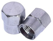 Valve Stem - Caps - Chrome Metal Cap (Flat Head)