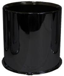 Cap | Push Thru Steel [Open End] 4.250 Bore [Black] (Wheel Caps)