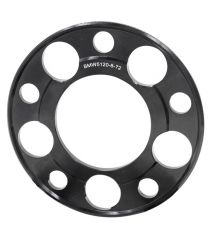 Wheel Spacer - 6061 Billet Aluminum - 5 on 120mm - 5mm - 72.56 ID