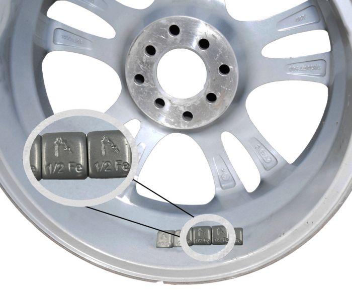 Wheel Weight - Tape (Steel) - 1/2 Oz. (30-6 Oz Strips)