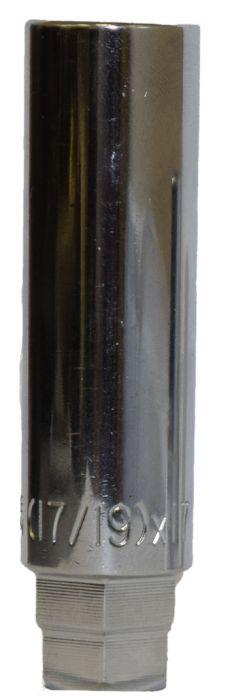 17mm Socket w/19mm and 17mm Hex (3/8 Drive) - 24.3mm/0.95 OD