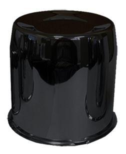Cap   Push Thru Steel 5.150 Bore [Black] (Wheel Caps)