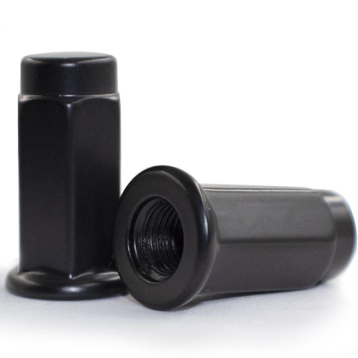 Lug Nut - Flat Seat (14mm) - M10 1.25 (Blk)