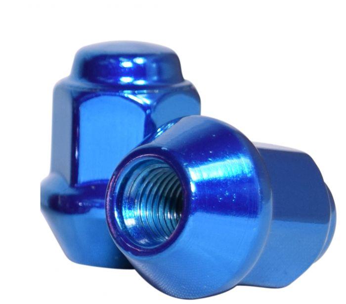 Lug Nut   Bulge Acorn [17mm Hex] 2 Piece 3/8 [Blue] (Lugs)