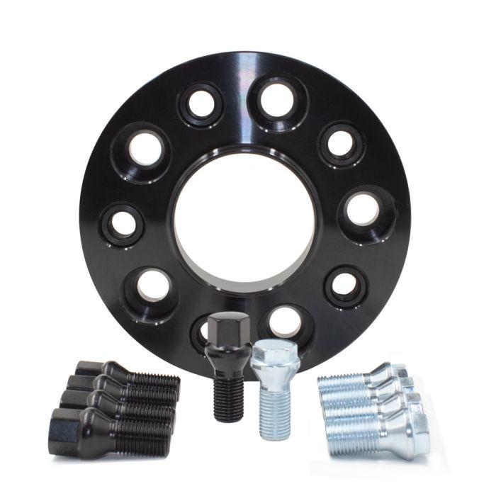 Wheel Spacer - Bolt-On Spacer Kit - 5x112 (20mm) 66.56m w/M14 1.25 Blk Bolt