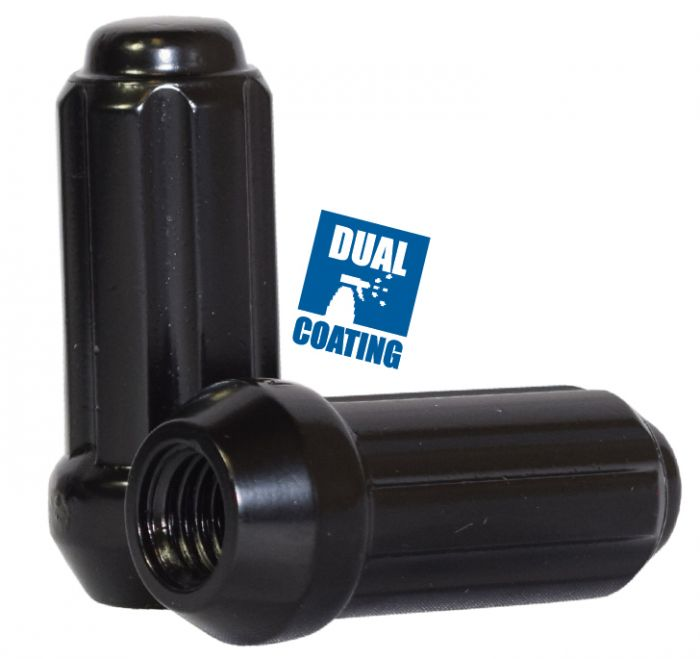 Spline Lug Nut - Truck (6 Sided) - M12 1.75 (Blk)