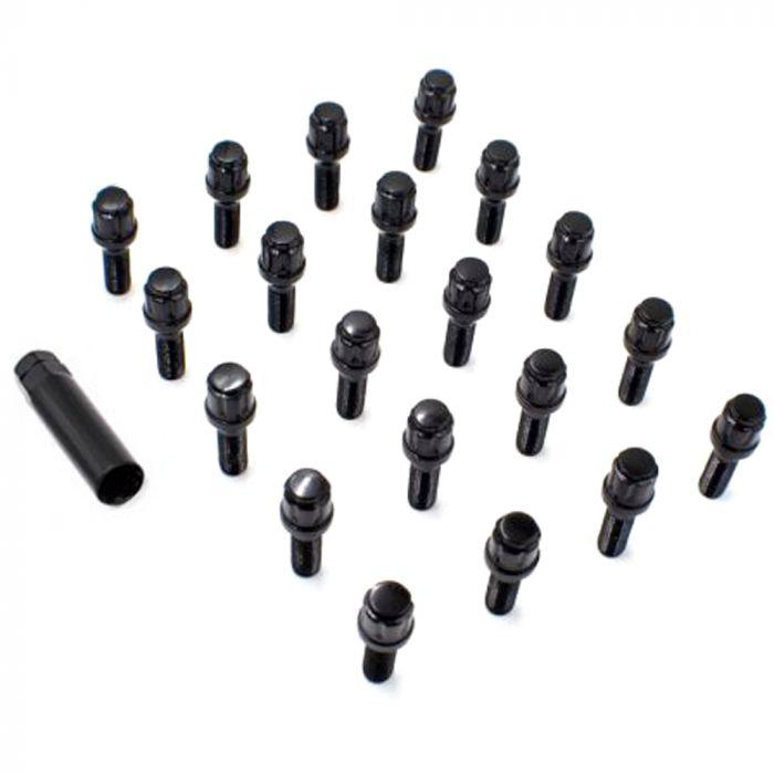 Install Kit - Spline Bolt (Car) - M14 1.5 x 45mm (5 Lug)(Blk)(Lugs Only)