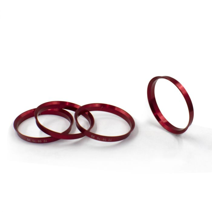 Hub Ring - 72.56mm OD (4 Pack) - 56.10mm ID (Metal)