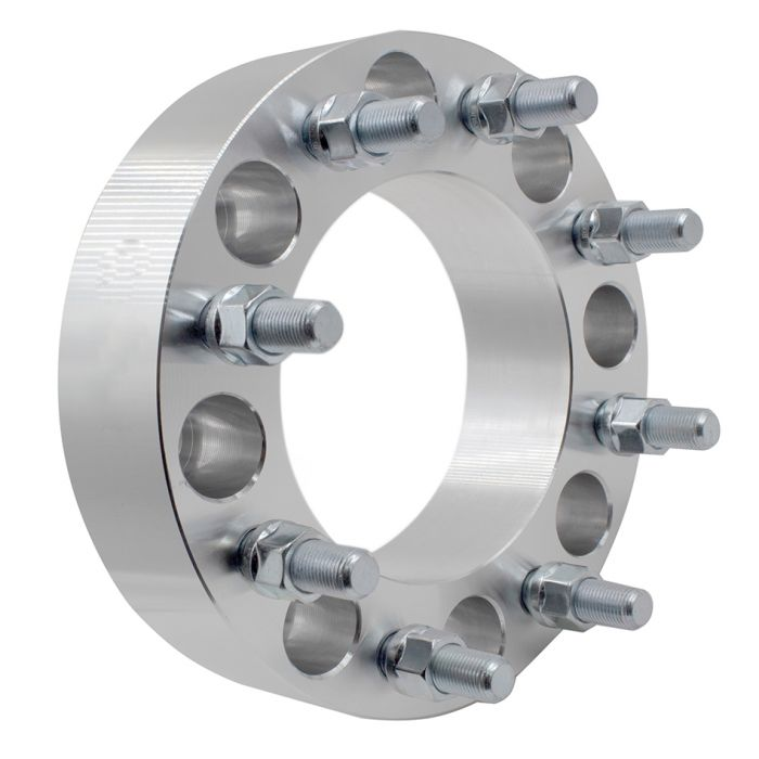 Wheel Adapter - 6061 Billet Aluminum - 8x6.50- 8x6.50 (2.0) 126m CB (M14 1.5)