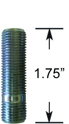 Wheel Stud - Thread In - 1/2  (1.75 Long)