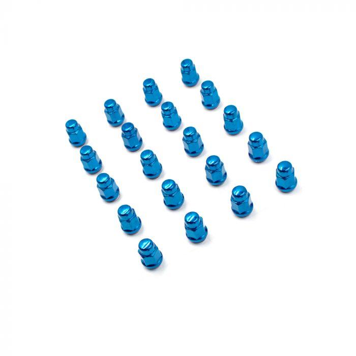Install Kit - Bulge Acorn (3/4) - M12 1.25 (5 Lug)(Blue)(Lugs Only)