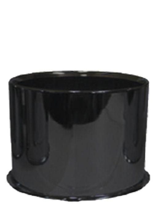 Cap - Push Thru Steel (Open End) - 5.150 Bore (Blk)