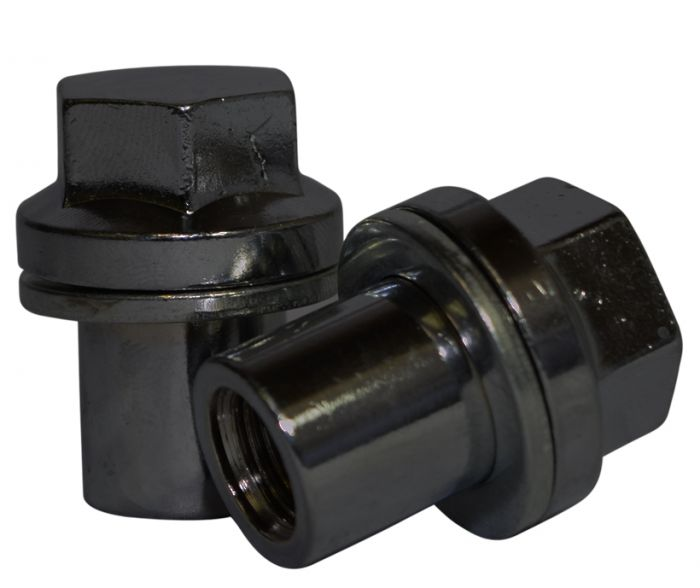 941148 OE Style Lug Nut | Range Rover Mag Style w/Washer [22mm Hex] 14mm 1.50 Lugs