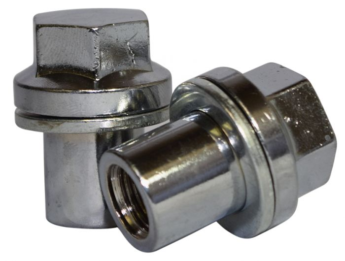 OE Style Lug Nut   Range Rover Mag Style w/Washer [22mm Hex] 14mm 1.50 Chrome (Lugs)