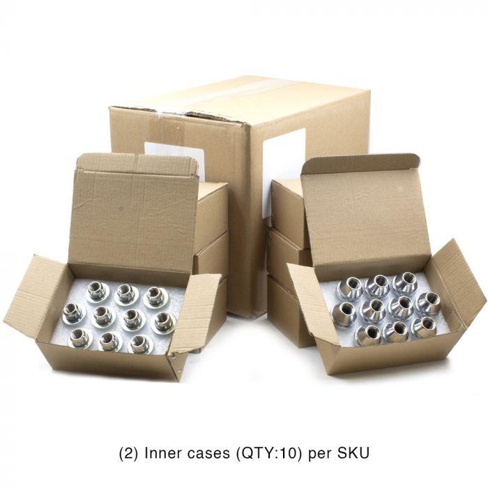 Factory Style - Lug Assortment - 8 Sets (2x10Pc per Set) Small Box