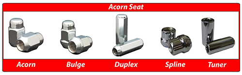 Coyote Accessories Acorn Seat Lug Nuts