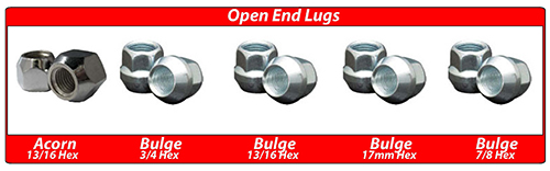 Coyote Accessories Open End Lug Nuts