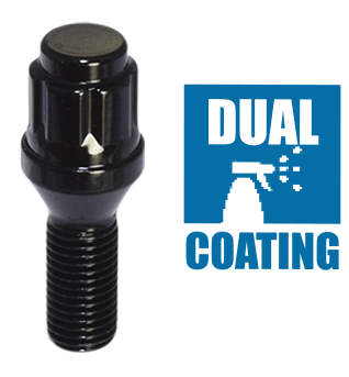 Black finish Dual Coating bolt